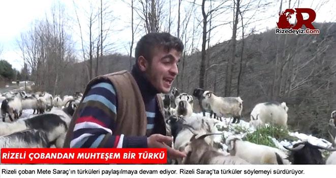 Rizeli Çobandan Yeni Türkü
