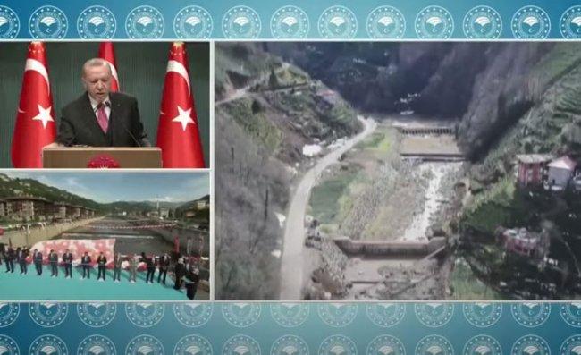 Erdoğan, Rize'deki Törene Video Konferansla Katıldı