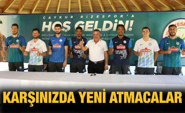 Çaykur Rizespor'da Yeni Transferler İçin Tanıtım Töreni Düzenlendi